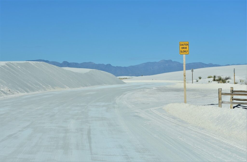 The Dunes Drive at White Sands National Park.