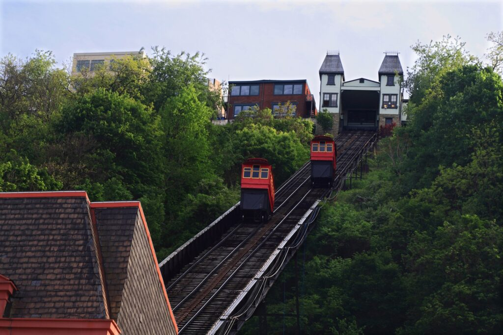 The Duquesne Incline in Pittsburgh.
