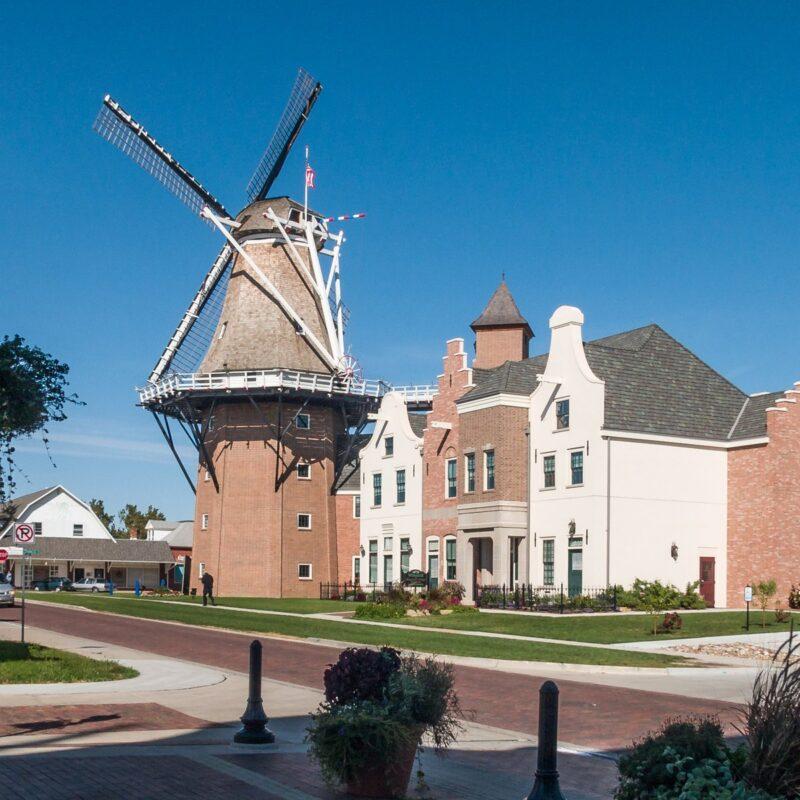 The Dutch windmill in Pella, Iowa.