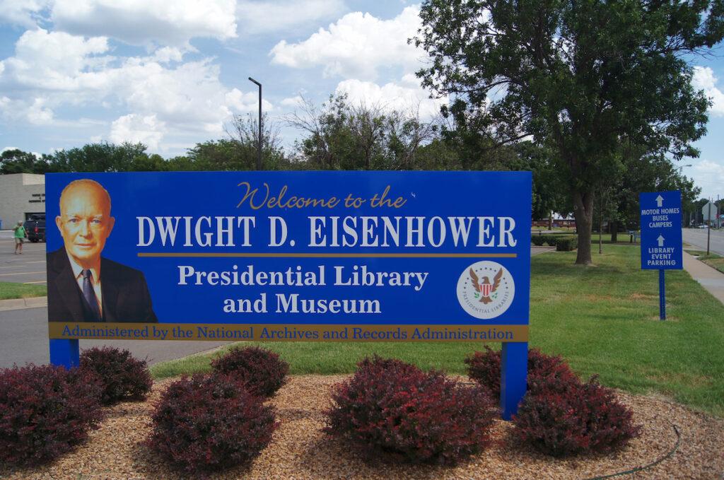 The Dwight D. Eisenhower Presidential Library in Kansas.