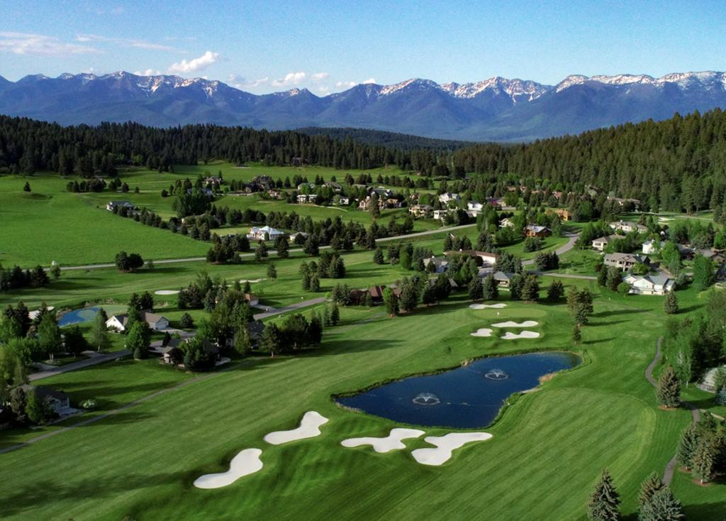 The Eagle Bend Golf Club at Flathead Lake in Montana.