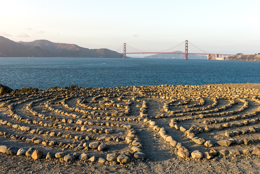 The Eagle Point Labyrinth in Golden Gate National Recreation Area.