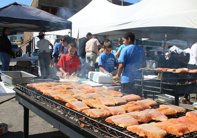 The Eastport Salmon and Seafood Festival.