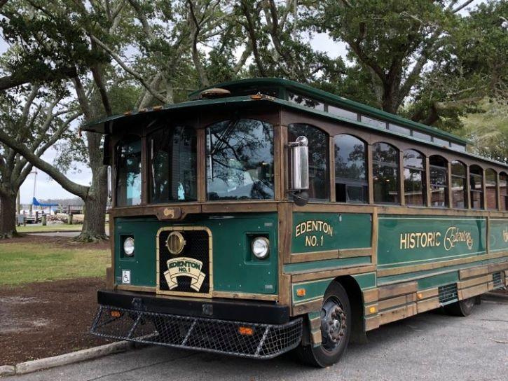 The Edenton Trolley in North Carolina.