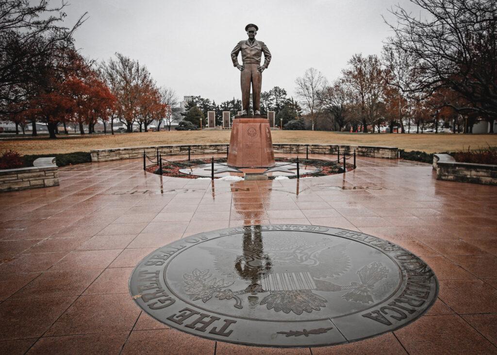 The Eisenhower statue in Abilene, Kansas.