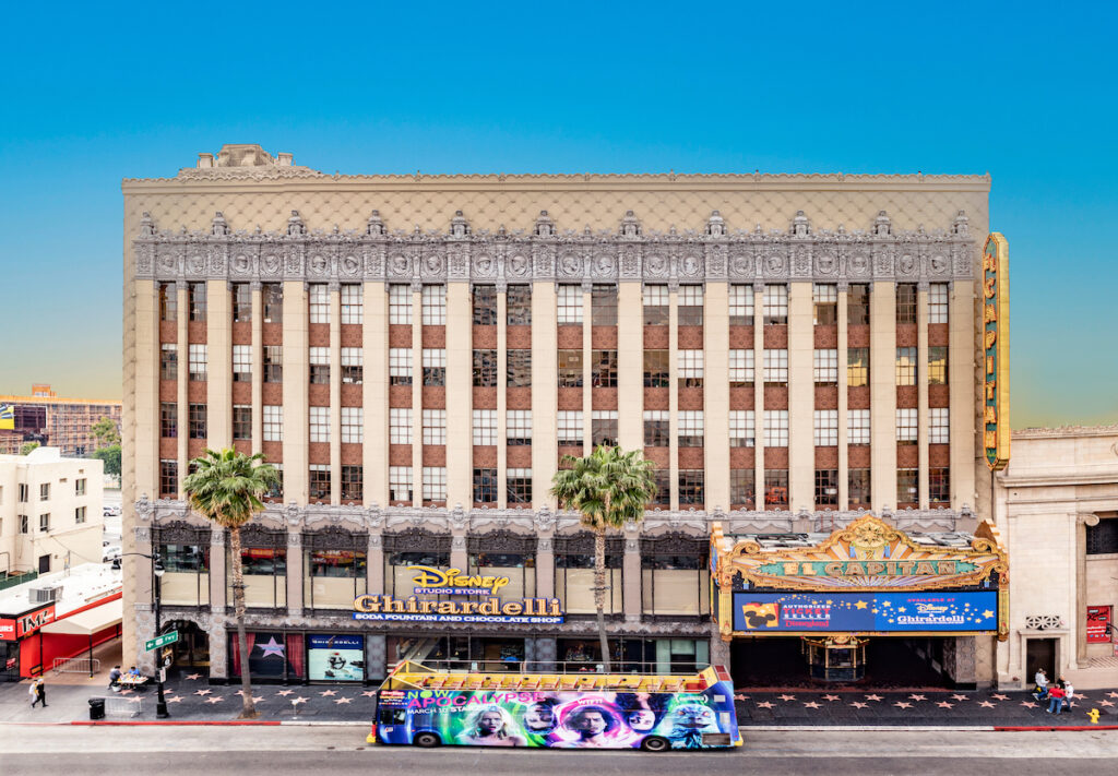 The El Capitan Theatre on Hollywood Boulevard in Los Angeles.