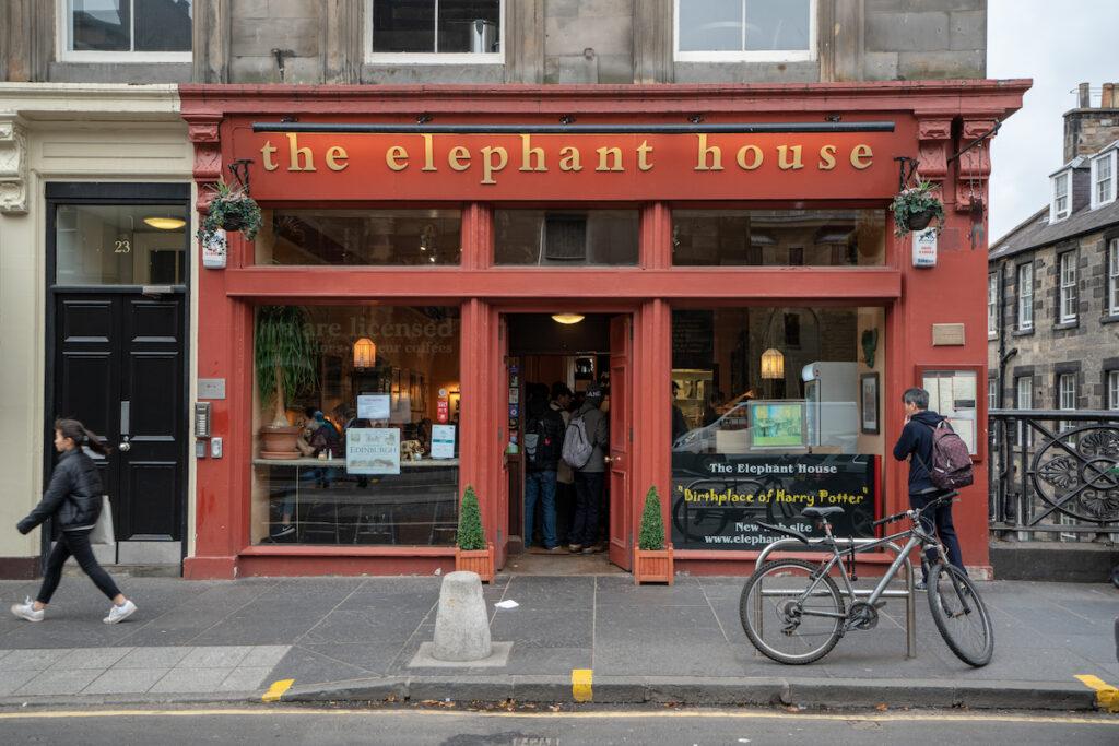 The Elephant House Cafe in Edinburgh, Scotland.