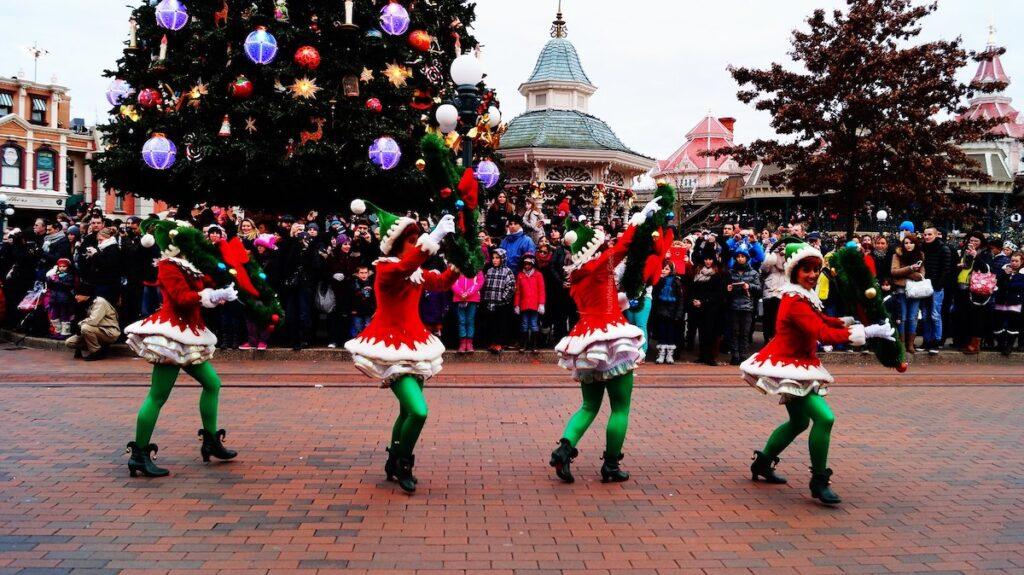 The Elf Parade in Pensacola, Florida.