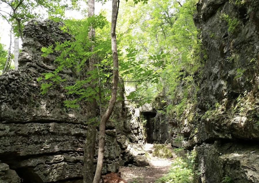 The Elk River Hiking Trail in Elk City, Kansas.