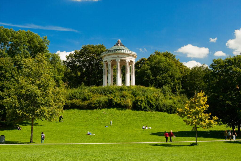 The English Garden in Munich, Germany.