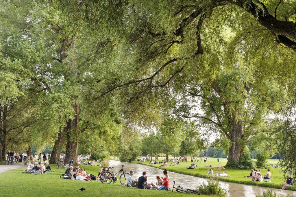 The English Garden in Munich.