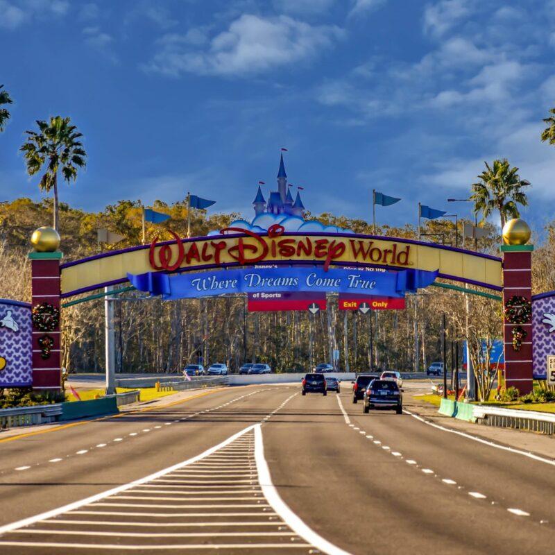 The entrance arch to Walt Disney World.