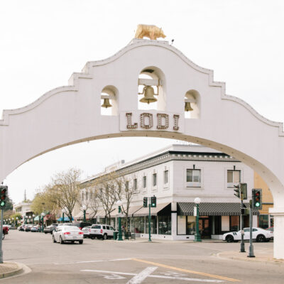 The entrance to beautiful Lodi, California.