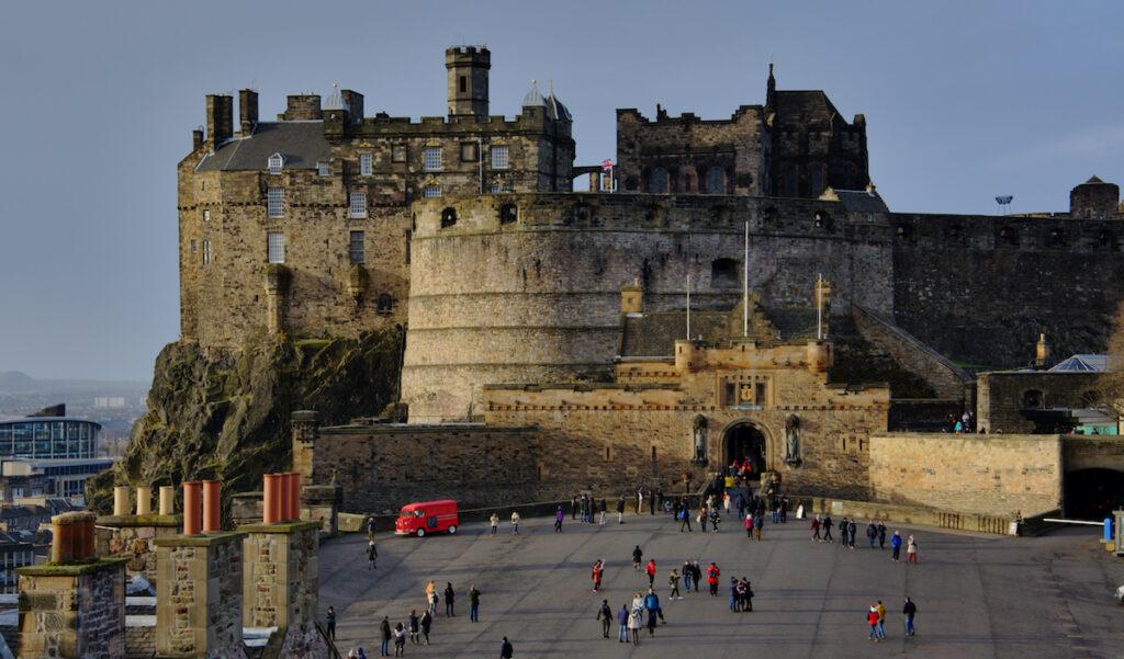 The entrance to Edinburgh Castle in Scotland.