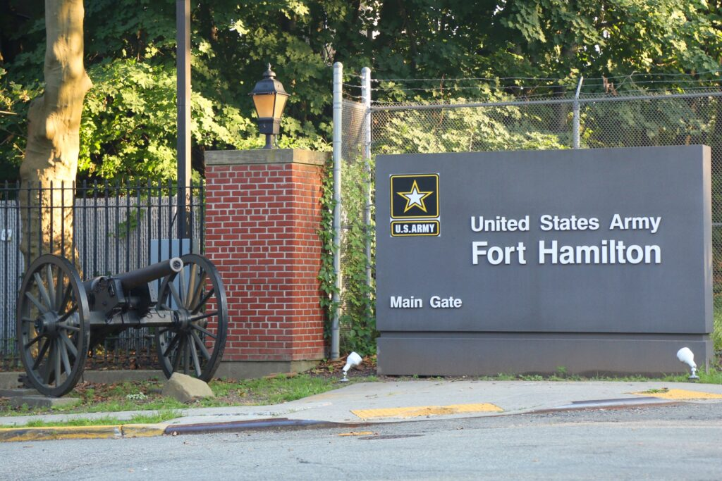 The entrance to Fort Hamilton in New York City.