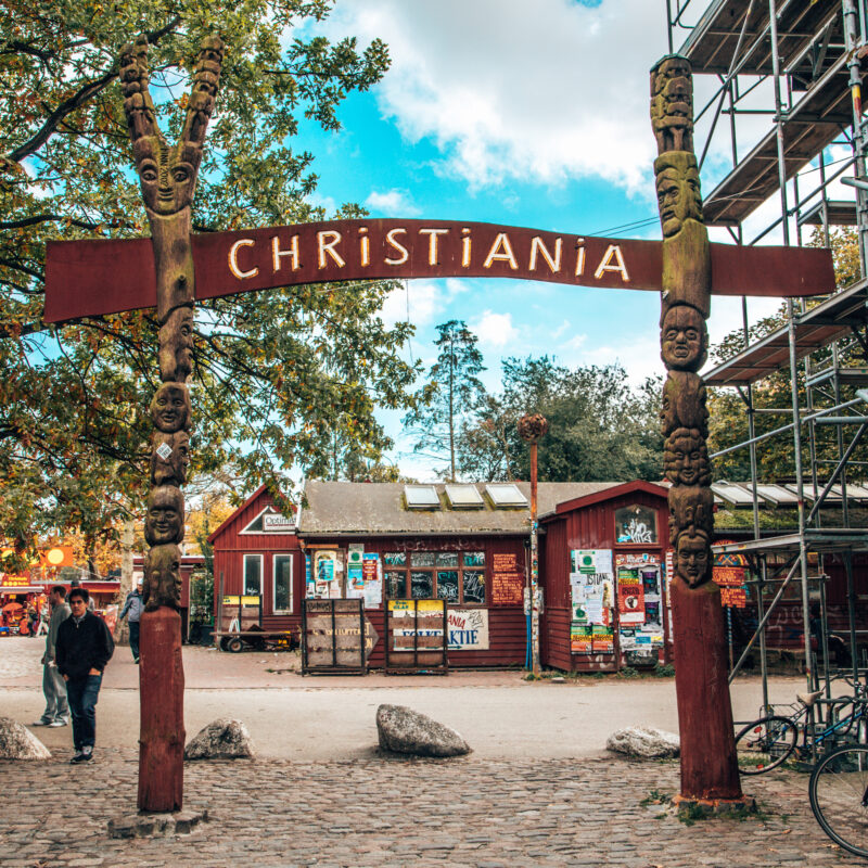 The entrance to Freetown Christiania in Denmark.