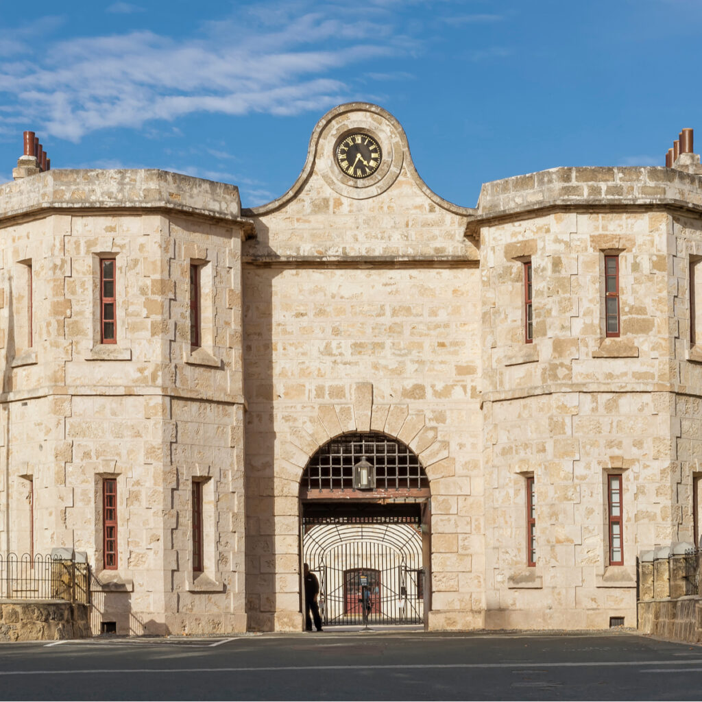 The entrance to Fremantle Prison in Perth.