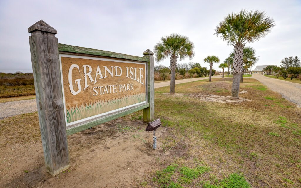 The entrance to Grand Isle State Park in Louisiana.