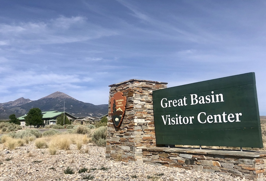 The entrance to Great Basin National Park.