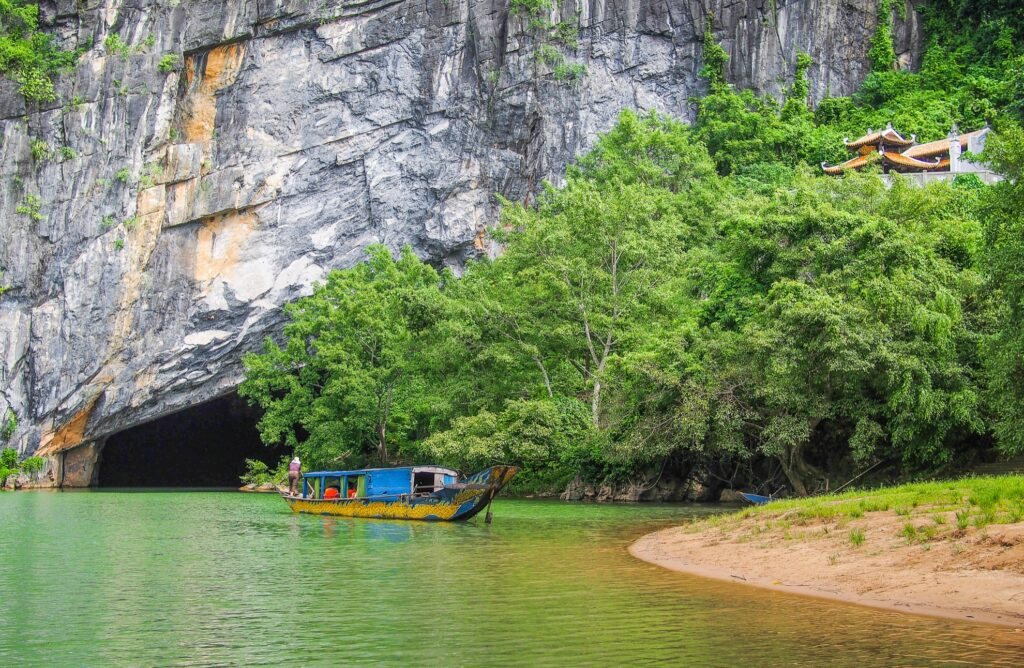The entrance to Hang Son Doong Cave, Vietnam.