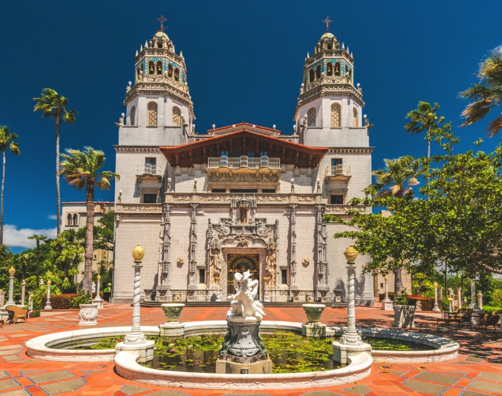 The entrance to Hearst Castle.
