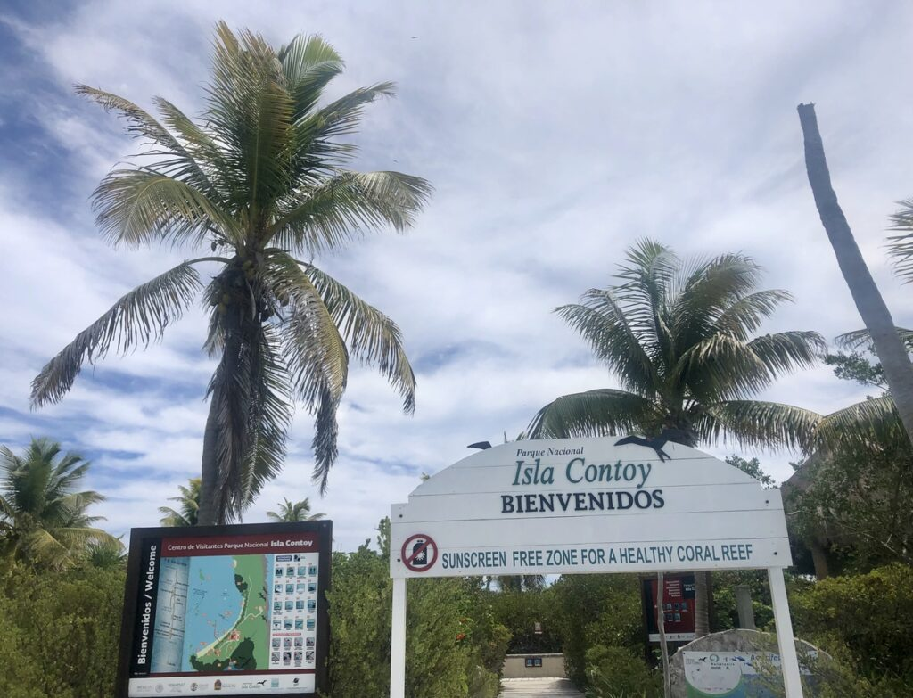 The entrance to Isla Contoy National Park.