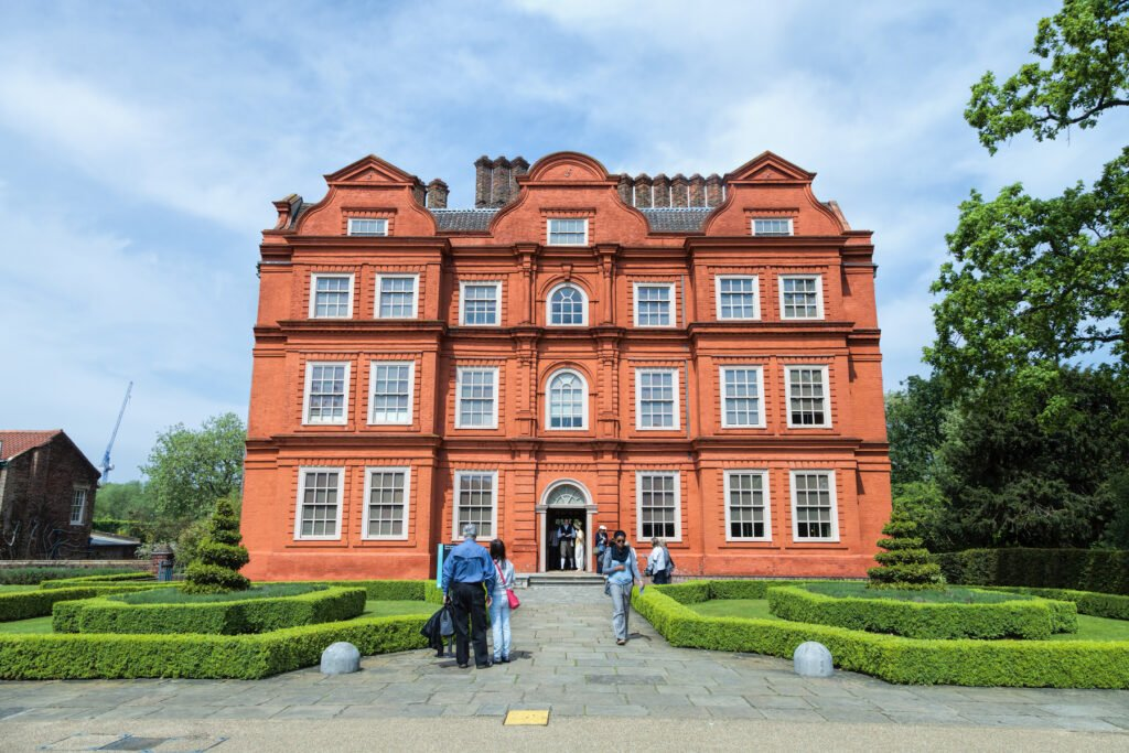 The entrance to Kew Palace in the Kew Gardens.