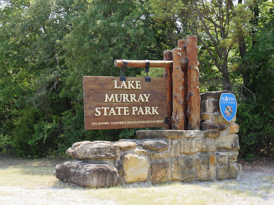 The entrance to Lake Murray State Park in Oklahoma.
