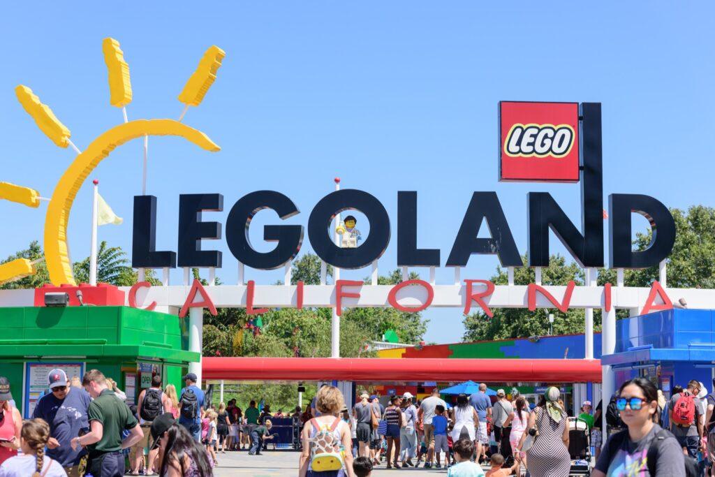 The entrance to Legoland California.