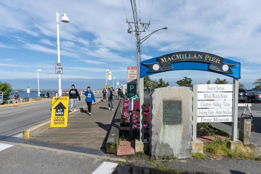 The entrance to MacMillan Pier.