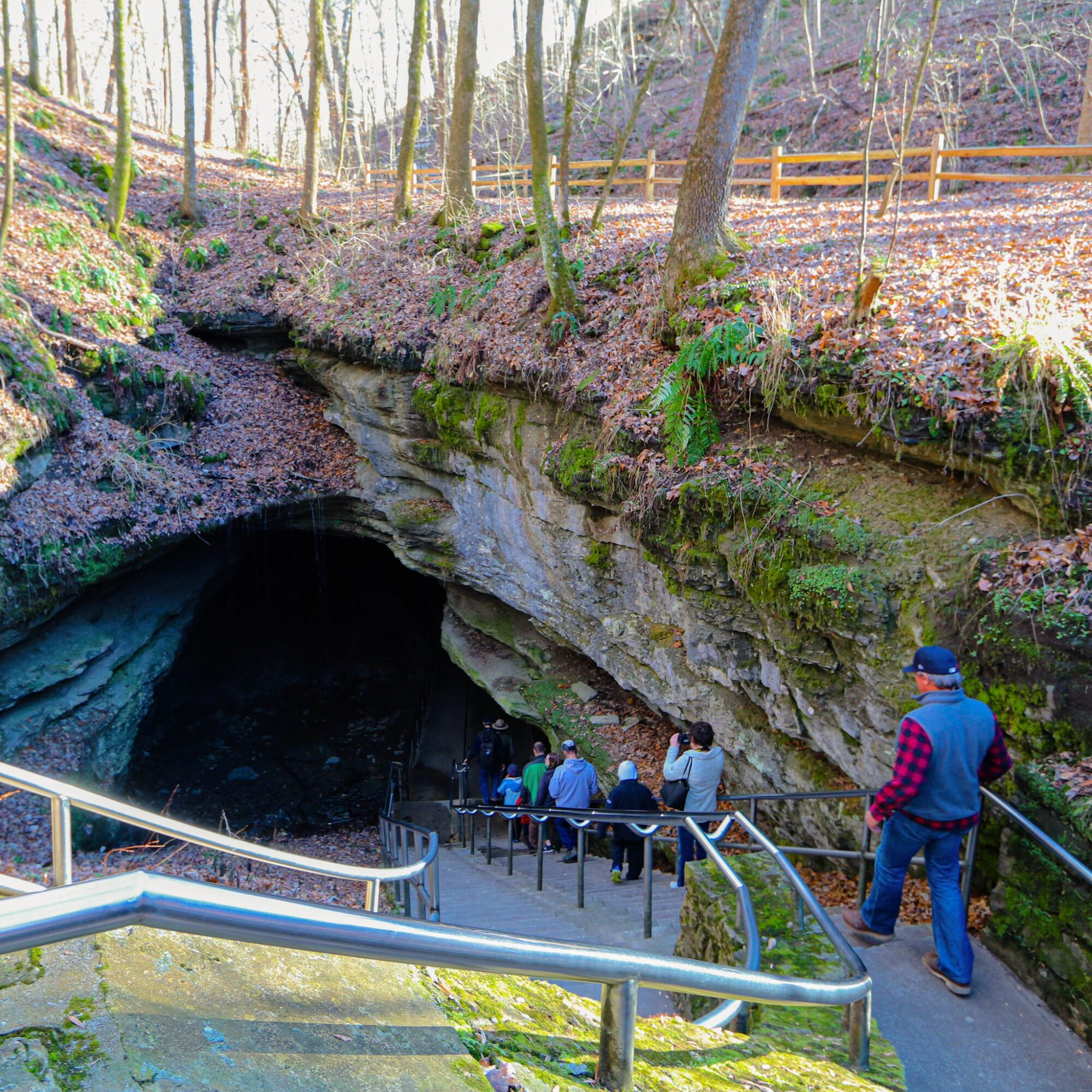 The entrance to Mammoth Cave in Kentucky.