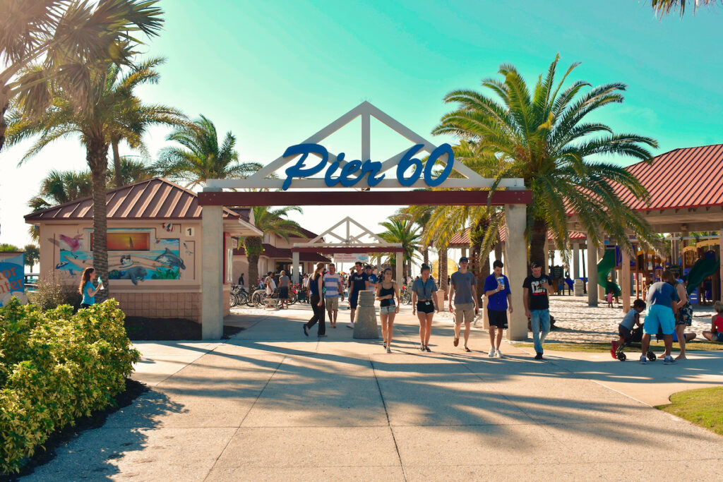 The entrance to Pier 60.