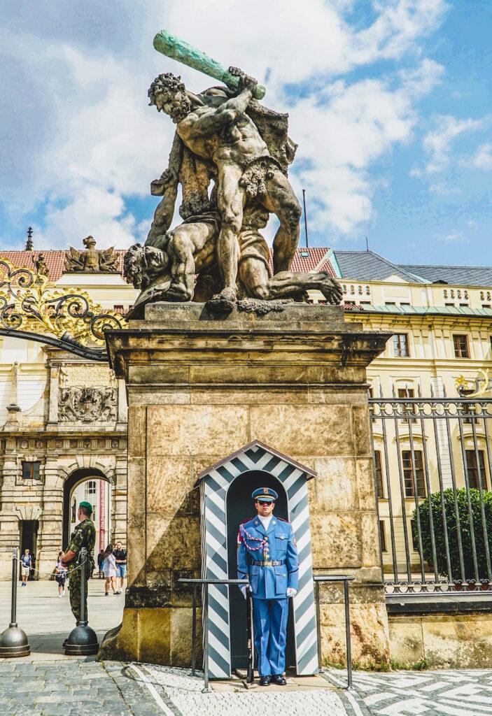 The entrance to Prague Castle.