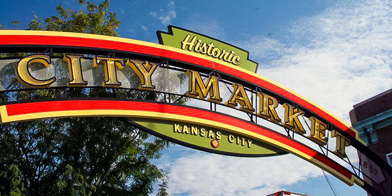 The entrance to the City Market in Kansas City