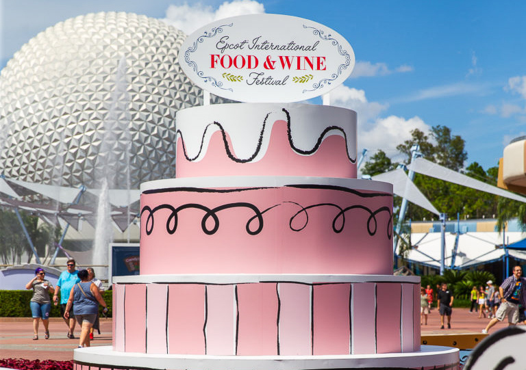 The entrance to the Epcot Food and Wine Festival.