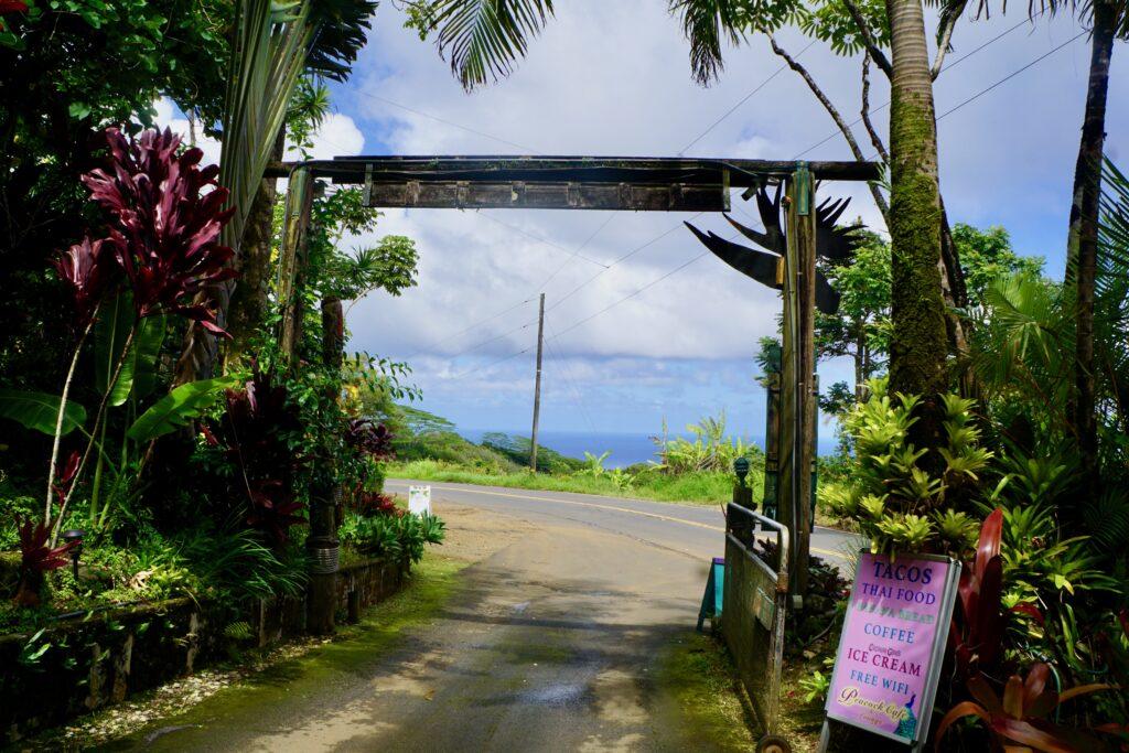 The entrance to the Garden Of Eden.
