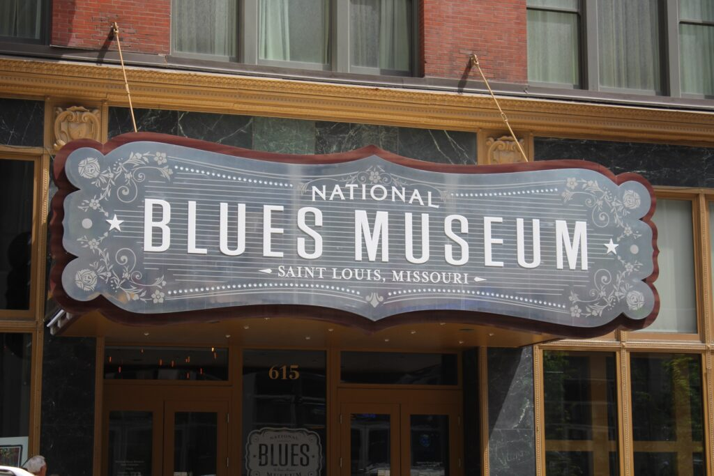The entrance to the National Blues Museum.