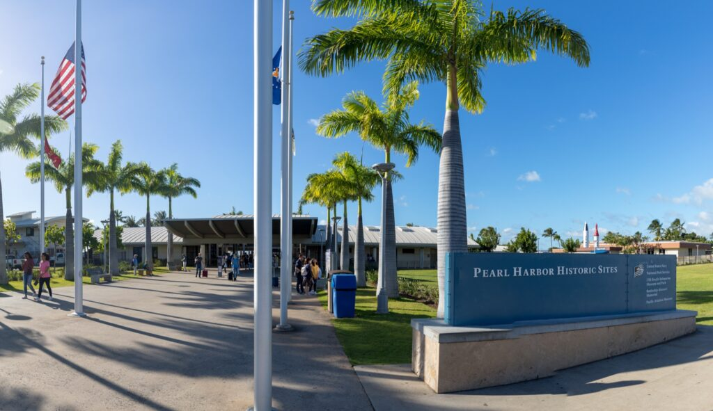The entrance to the Pearl Harbor Historic Site