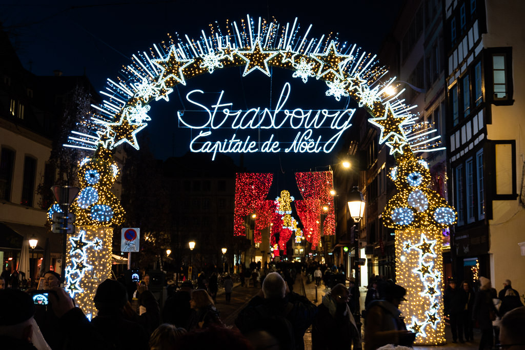 The entrance to the Strasbourg Christmas Market.