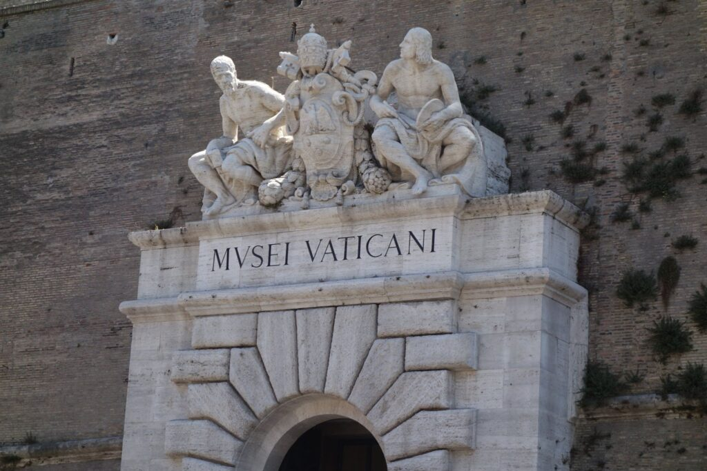 The entrance to Vatican City.
