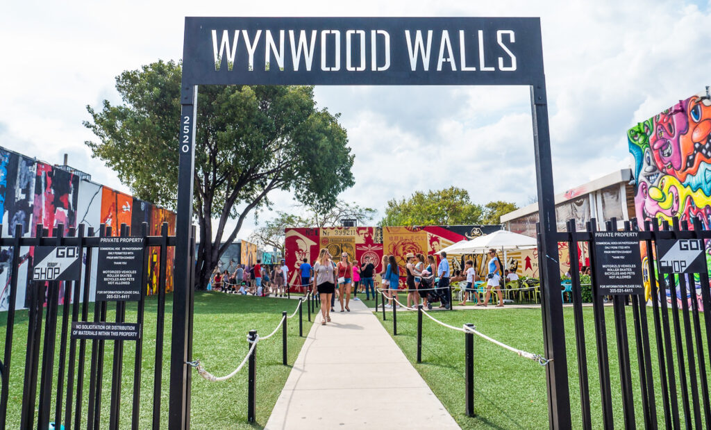 The entrance to Wynwood Walls in Miami.