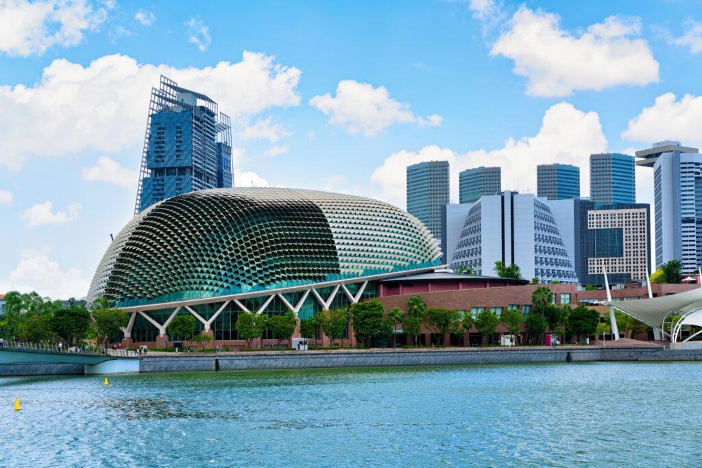The Esplanade Theatres in Singapore.