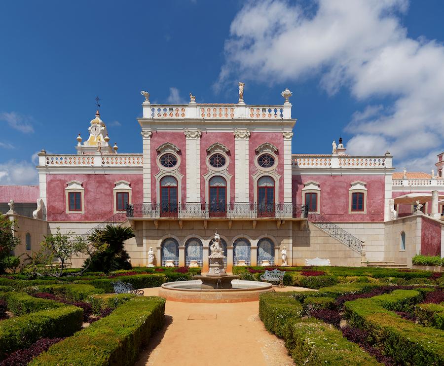 The Estoi Palace in the Algarve region of Portugal.