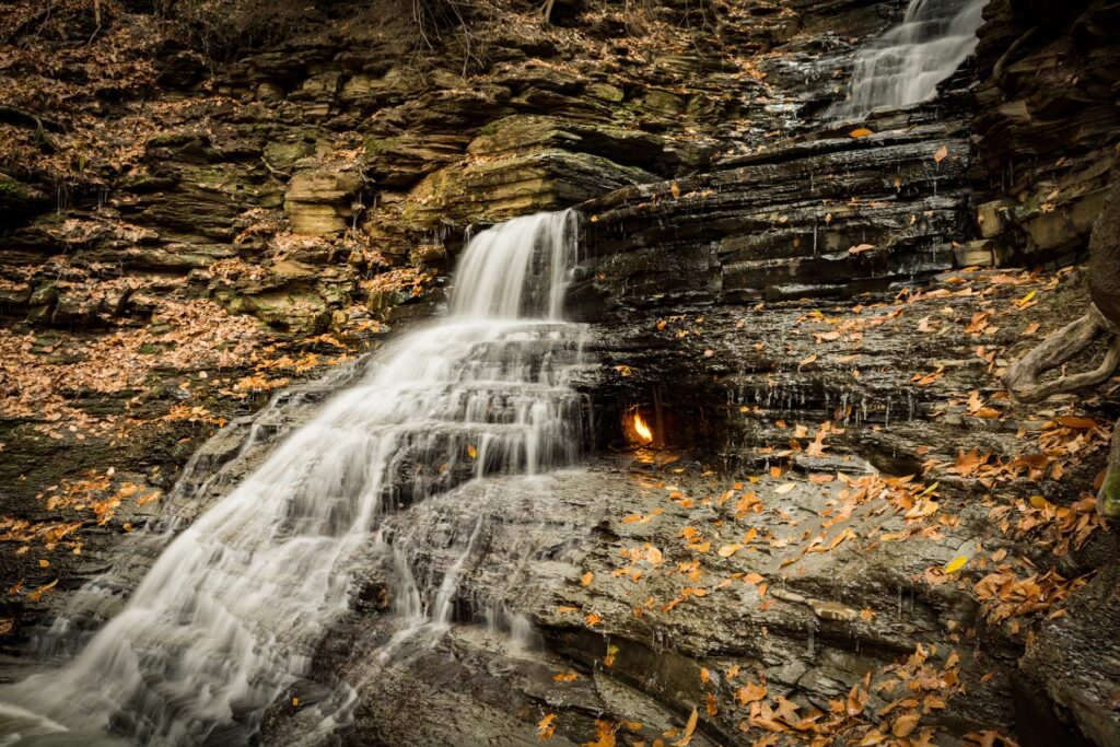 The Eternal Flame Falls in New York.