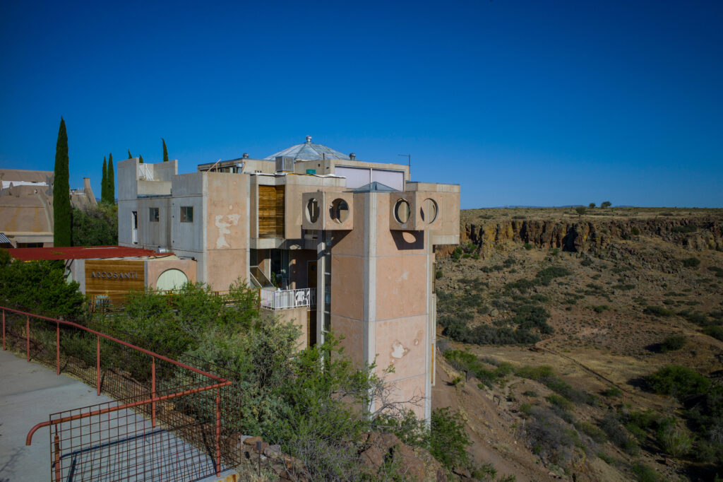 The experimental community of Arcosanti, Arizona.