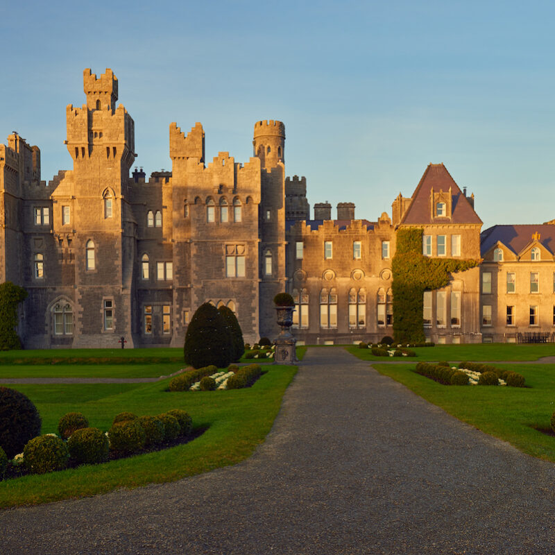 The exterior of a castle in Ireland.