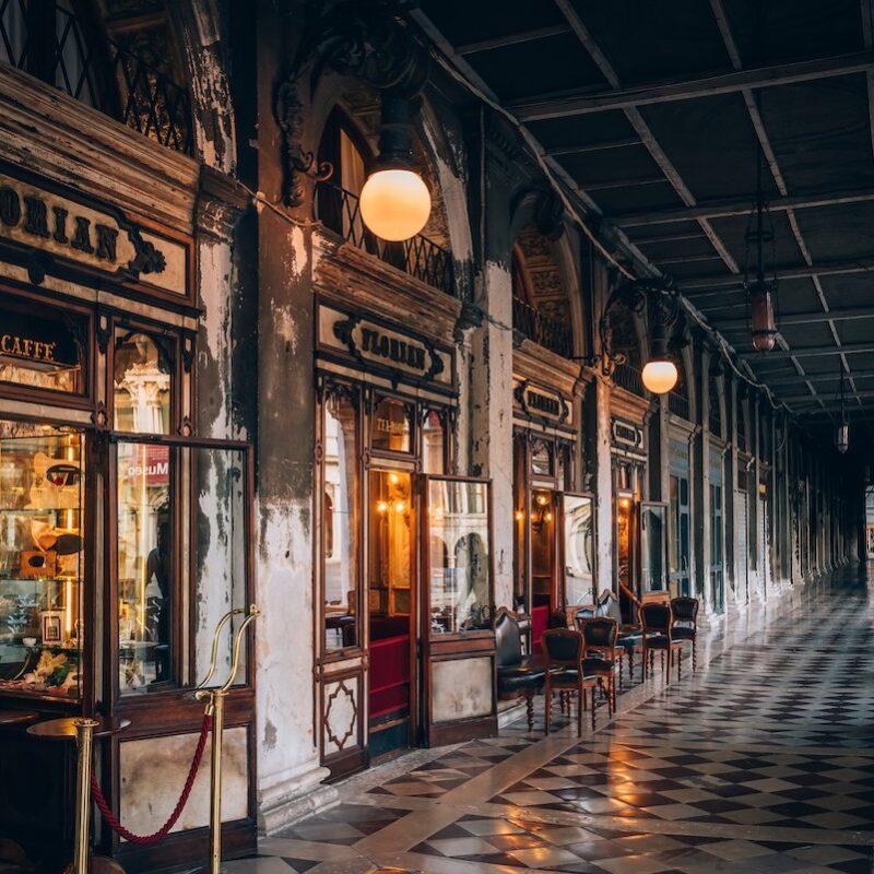 The exterior of Caffe Florian.