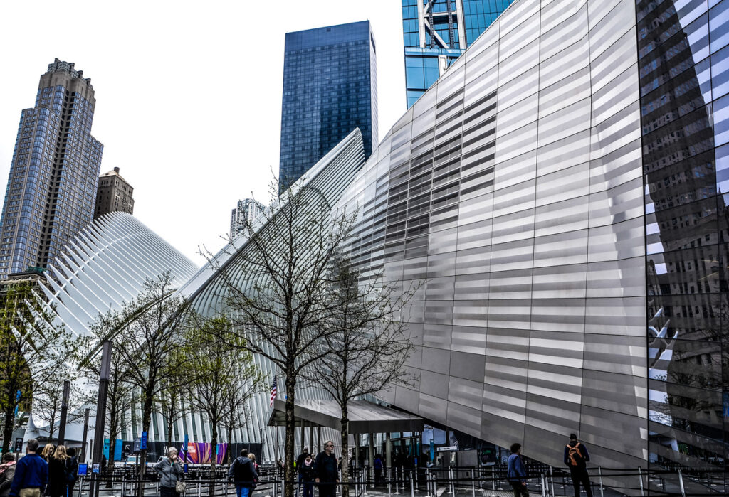 The exterior of the 9/11 Memorial and Musem.