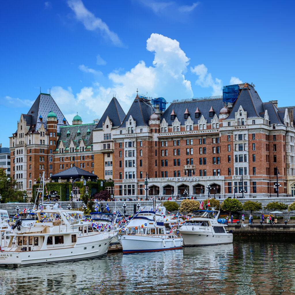 The Fairmont Empress in British Columbia, Canada.