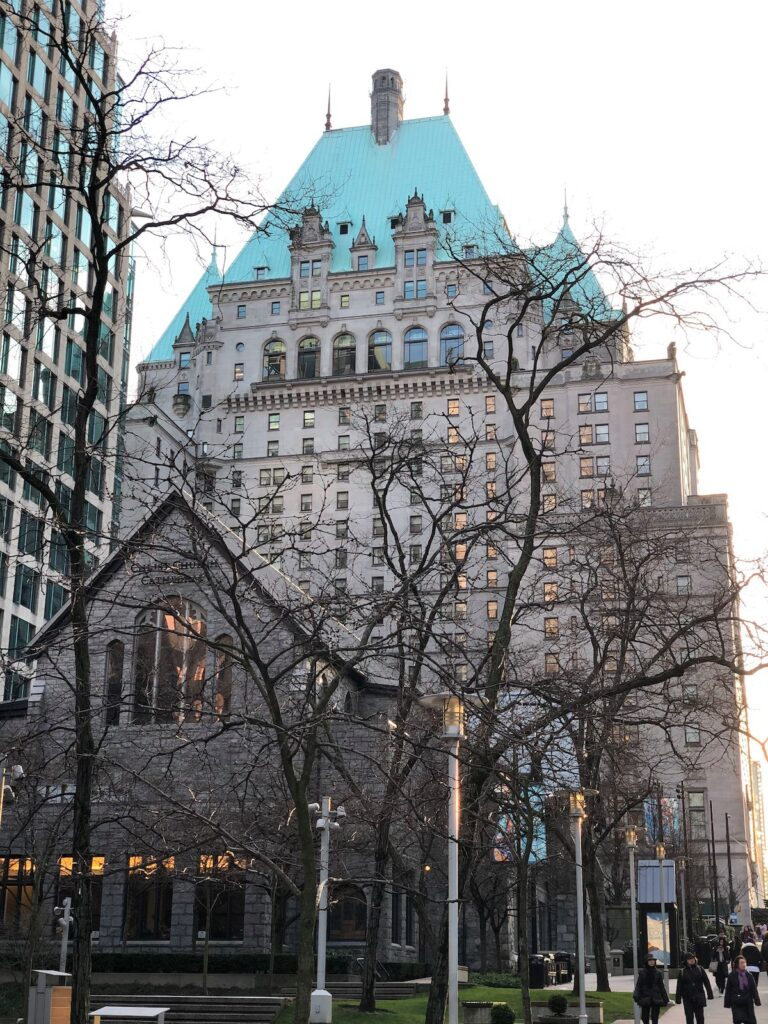 The Fairmont Hotel Vancouver in British Columbia.